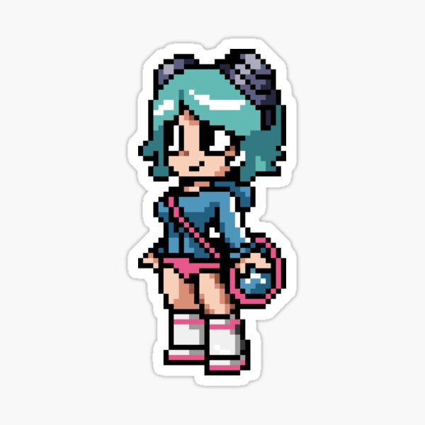 Ramona Flowers 8-bit art Sticker