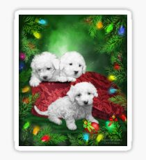 Puppies For Christmas Sticker
