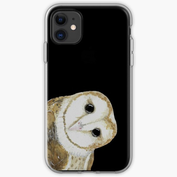 Curious Barn Owl iPhone Soft Case