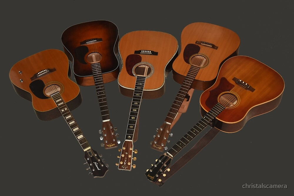 Guitar Wall by christalscamera