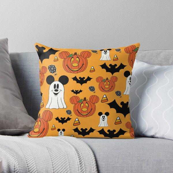 Halloween Mouse Orange Throw Pillow