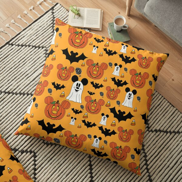 Halloween Mouse Orange Floor Pillow