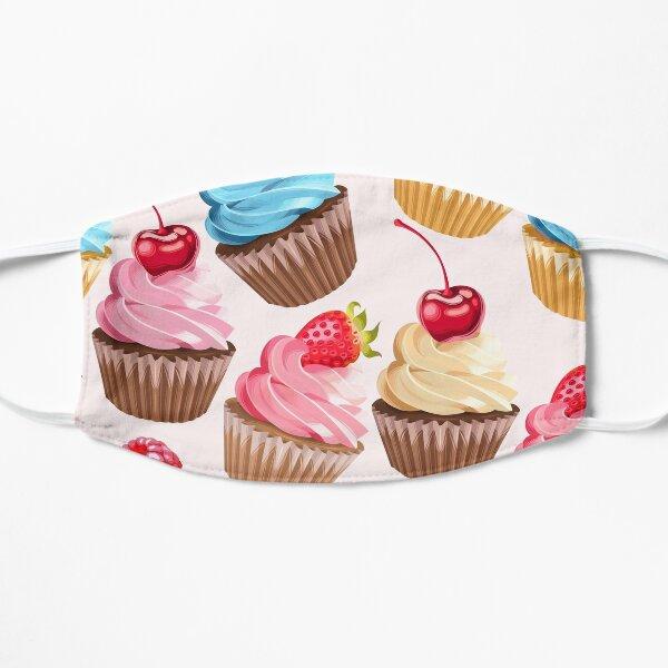 Delicious Retro Cupcakes Flat Mask