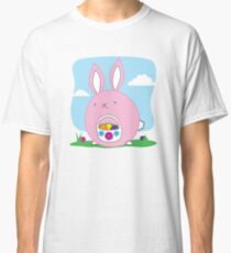 Easter Bunny with basket and eggs Classic T-Shirt