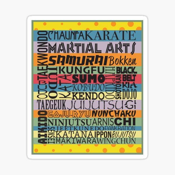 Martial arts word collage Sticker