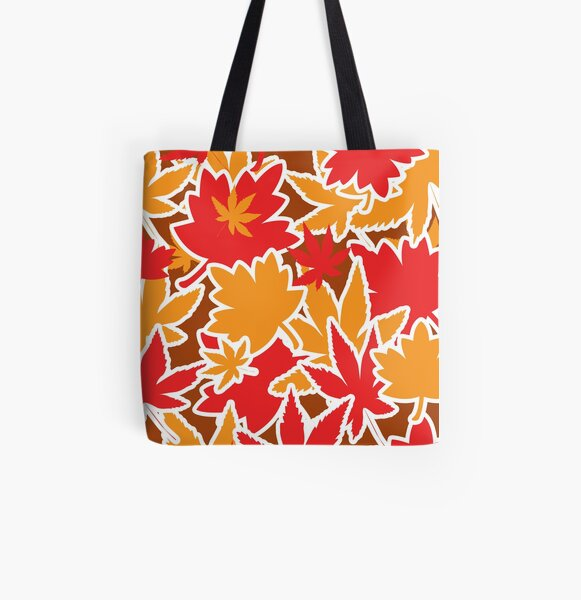 Autumn Leaves Frosted All Over Print Tote Bag