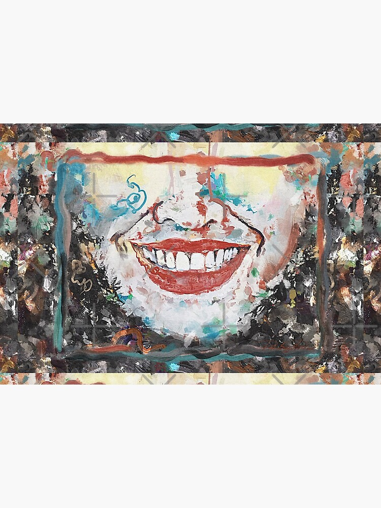 """""""Crumble"""" painting (""""Happy to be an Artist"""") - """"Smile"""" Fine Art series by CaraSonrisa"""