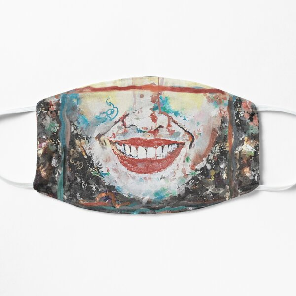 """Crumble"" painting (""Happy to be an Artist"") - ""Smile"" Fine Art series Mask"