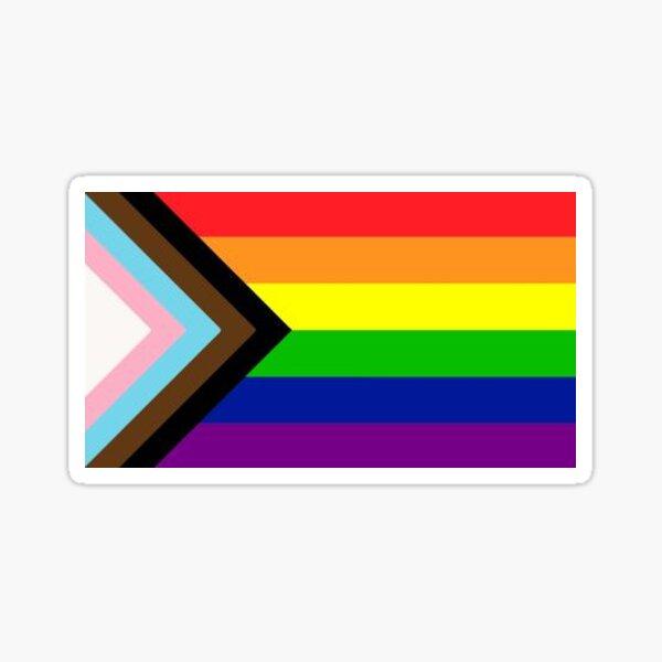 Progress pride flag Sticker