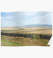 Rural English landscape Poster