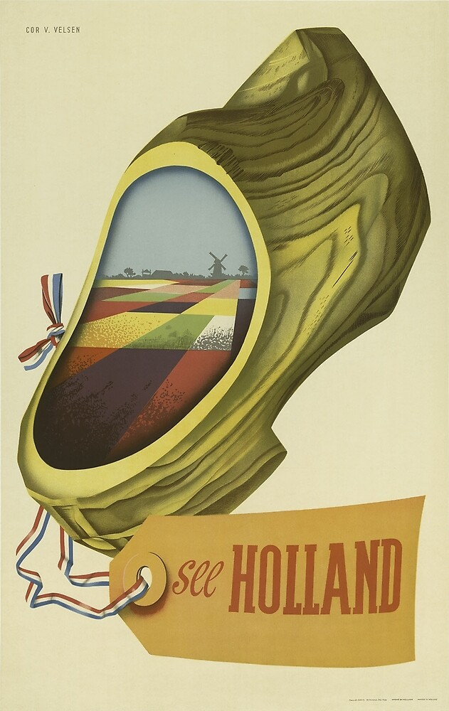 Vintage poster - Holland by mosfunky