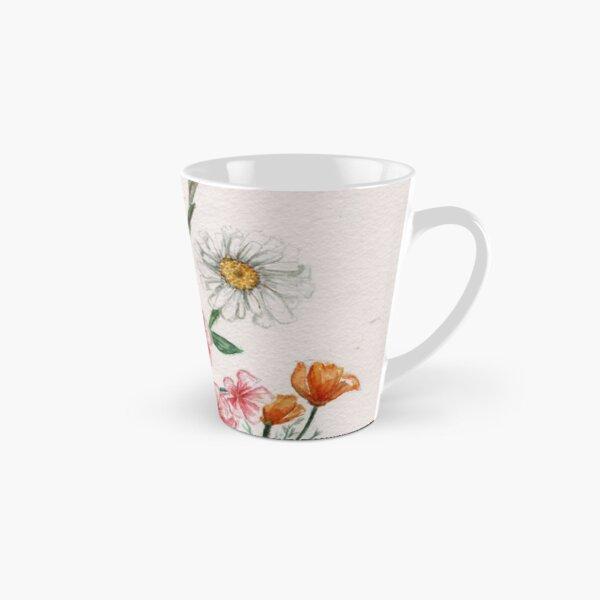 Watercolor Wildflowers Tall Mug