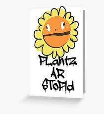 PLantz AR SToPiD, Art Inspired by Plants Versus Zombies: Garden Warfare Greeting Card
