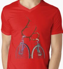 Bicycle Love Mens V-Neck T-Shirt