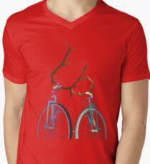 Bicycle Love Men's V-Neck T-Shirt