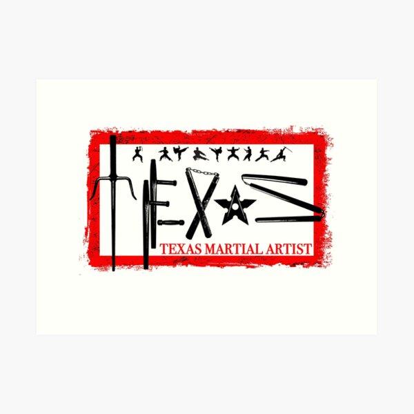 Texas Martial Artist Art Print