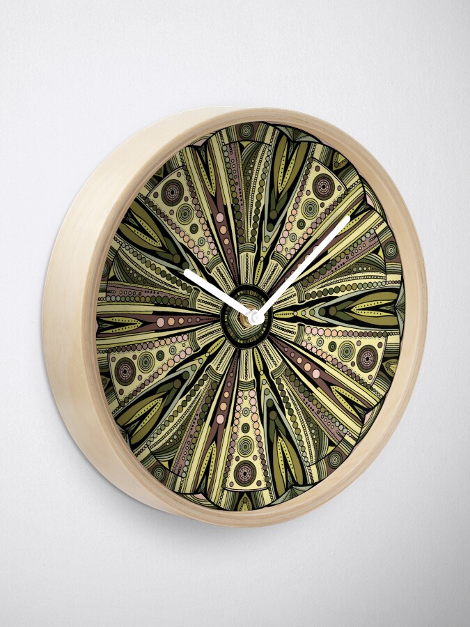 Alternate view of Seaside Urchin Mandala Clock