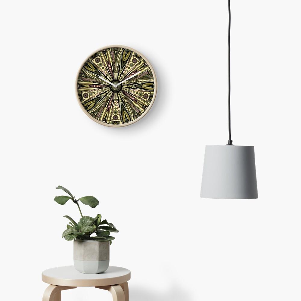 Seaside Urchin Mandala Clock