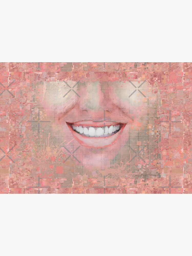 """""""Shattered"""" painting (Happy to be an Artist) - """"Smile"""" Fine Art series by CaraSonrisa"""