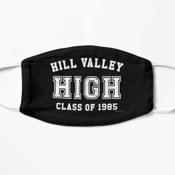 Hill Valley High School Class of 1985 Artwork, Tshirts, Bags, Posters, Mwn, Women, Youth Flat Mask