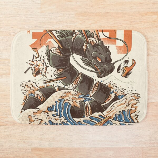 Great Sushi Dragon Alfombra de baño
