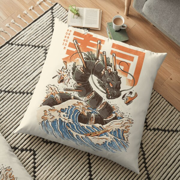 Great Sushi Dragon  Floor Pillow