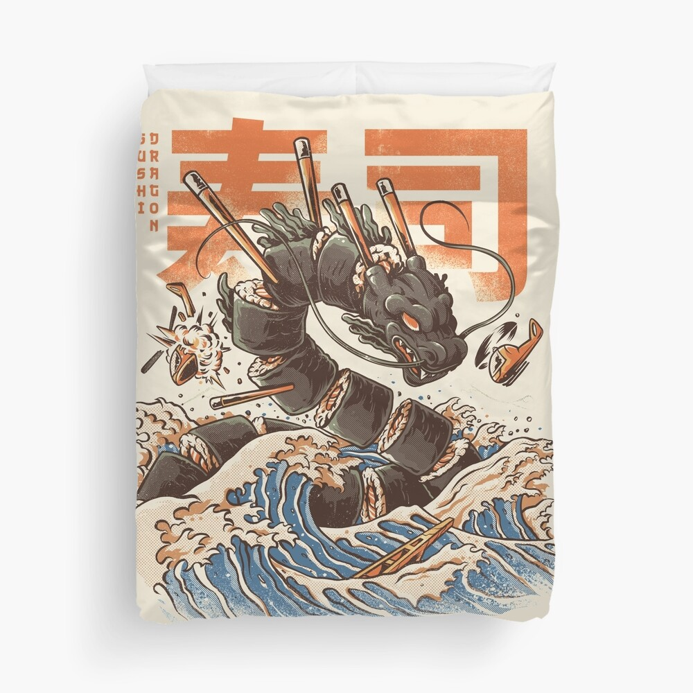 Great Sushi Dragon  Duvet Cover