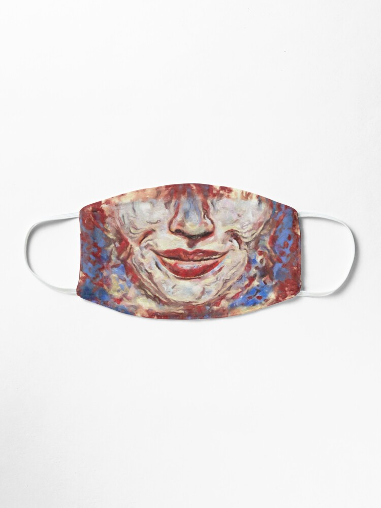 """Alternate view of """"Chaos"""" painting - """"Smile"""" Fine Art series Mask"""