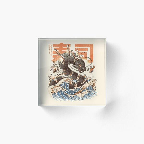 Great Sushi Dragon  Acrylic Block