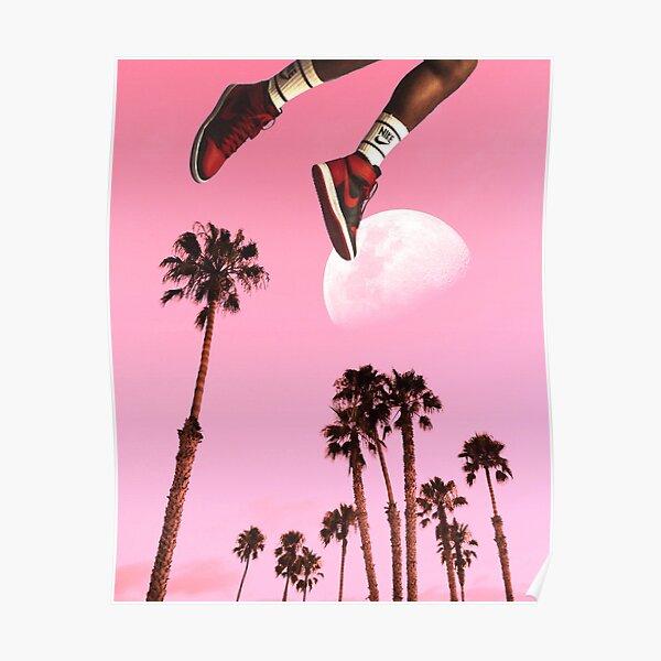 Sneaker Sunset Poster