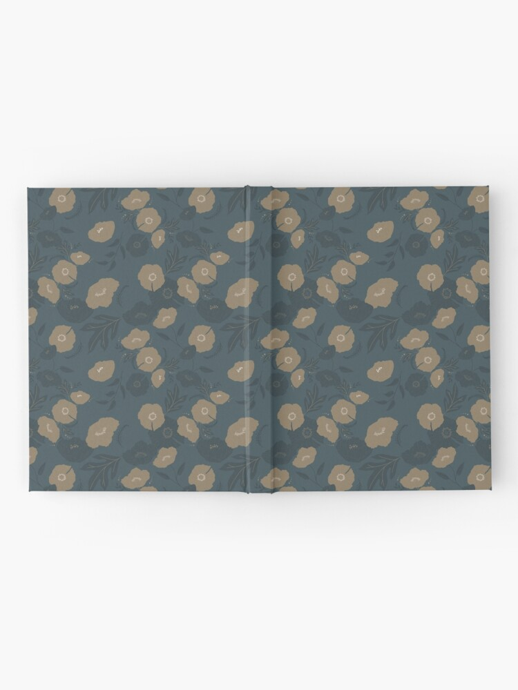 Alternate view of Oxford Blue and Gold poppy flowers pattern Hardcover Journal