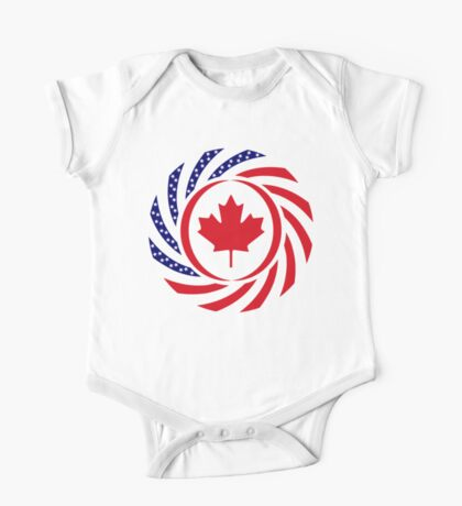 Canadian American Multinational Patriot Flag Series Kids Clothes