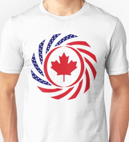 Canadian American Multinational Patriot Flag Series T-Shirt