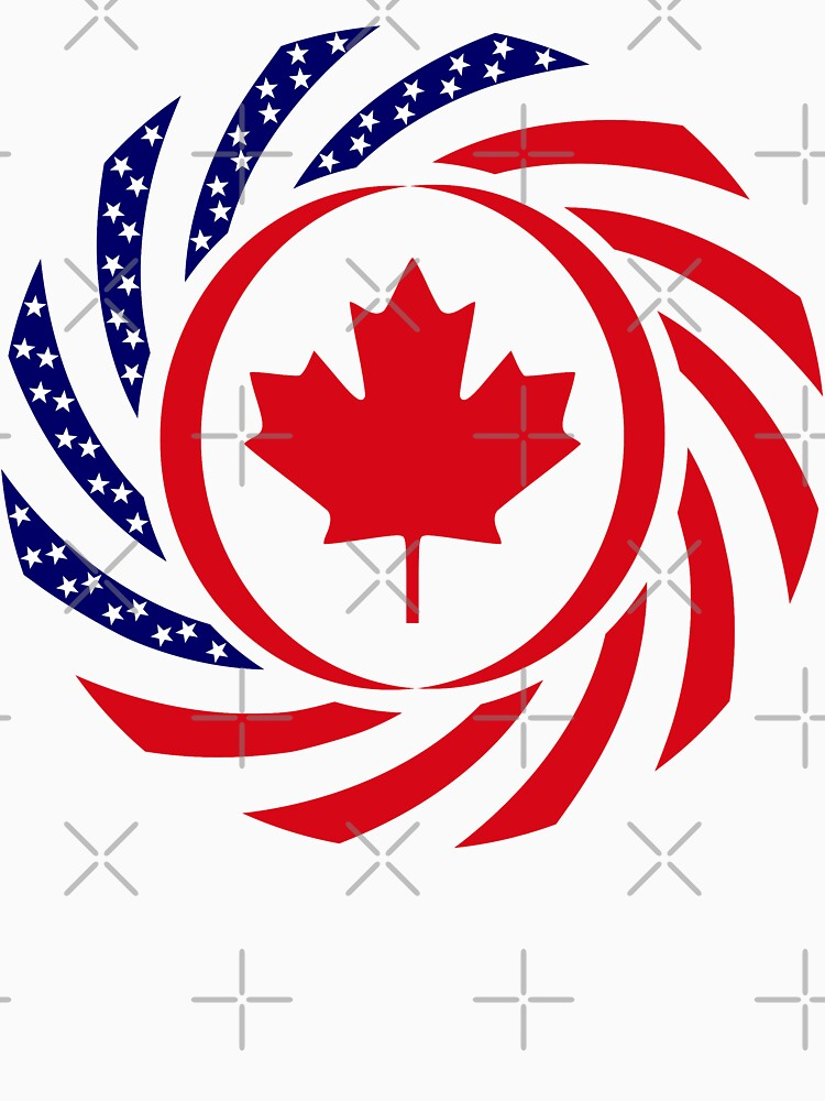 Canadian American Multinational Patriot Flag Series by carbonfibreme