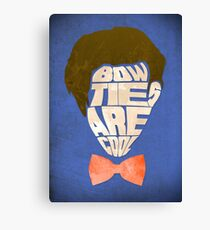 Bow Ties Are Cool - Blue Canvas Print
