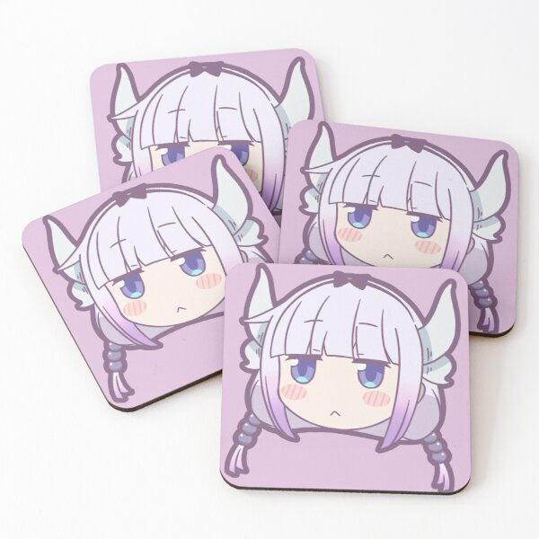 Kanna Kamui Kobayashi Maid Dragon Coasters (Set of 4)