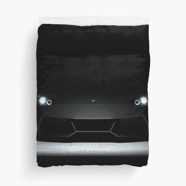 Blacked out Lamborghini Duvet Cover
