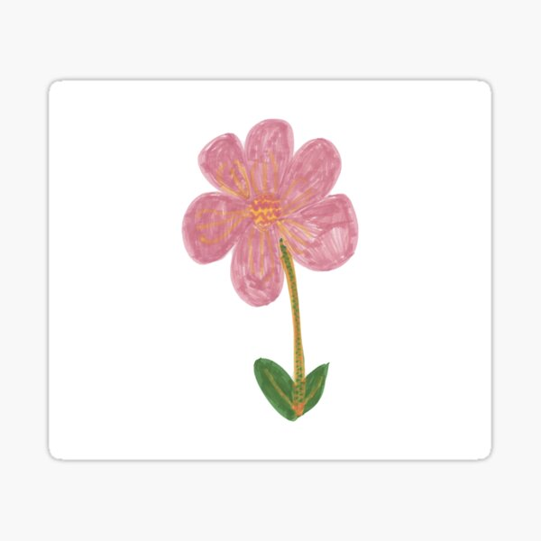The Peaceful Flower Sticker