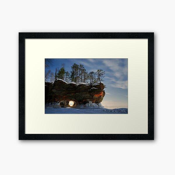 Frozen Keyhole, Apostle Islands,WI Framed Art Print
