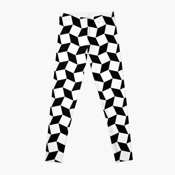Black & White Geometry  Leggings