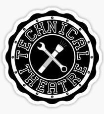 Technical Theatre Logo - Black Sticker