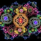 Cosmic Fractal Flowers by wolfepaw