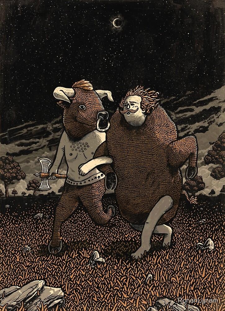 Minotaur Loves Man-Bull by RonanLynam