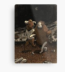 Minotaur Loves Man-Bull Metal Print