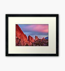 Garden of the Gods Sunset View Framed Print