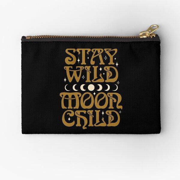 Stay Wild Moon Child {in Black Magic} Zipper Pouch