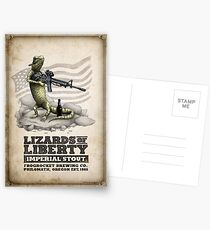 Lizards of Liberty Imperial Stout Postcards