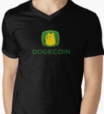 Dogecoin inspired by John Deere Men's V-Neck T-Shirt