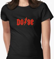 Dogecoin inspired by AC/DC Women's Fitted T-Shirt