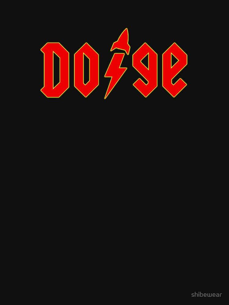 Dogecoin inspired by AC/DC by shibewear